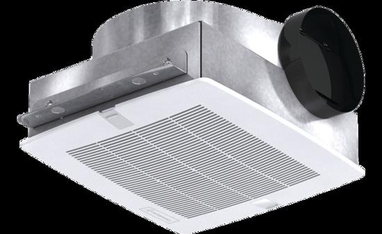 Picture of Bathroom Exhaust Fan, Low Profile, Model SP-B150, 115V, 1Ph, 92-160 CFM