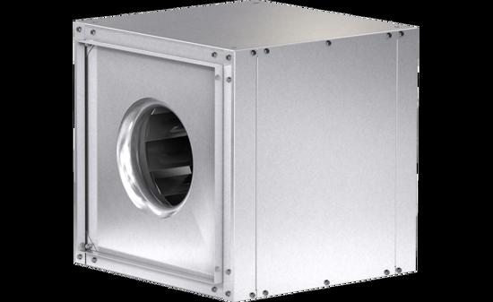 Picture of Centrifugal Inline Fan, Variable Speed, Model SQ-100, Direct Drive, Vari-Green EC motor, 1/4HP, 115/208-230V, 1Ph, 459-1455 CFM