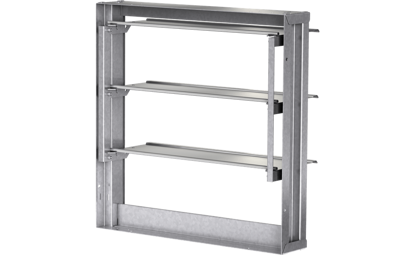 Picture of Backdraft damper, vertical mount, Model WD-330, 14 In Sq, No Flange, Performance up to 2,500 ft/min