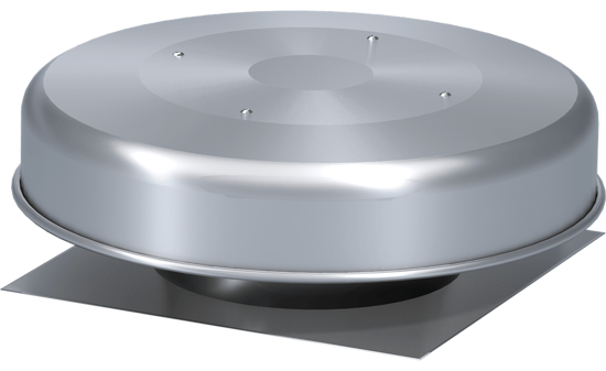 Picture of Spun Aluminum Gravity Ventilator with Flashing Flange, Size 10, Model GRSF-10