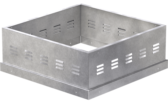 Picture of Vented Curb Extension, 19 In. Square Base for Model CUBE