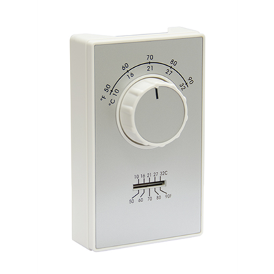 Picture of Heating / Cooling Line Voltage Thermostat (50-90 F Degrees)