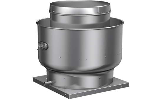 Picture of Centrifugal Upblast Exhaust Fan, Model CUBE-180, Belt Drive, Less Motor & Drive Package, 1558-5667 CFM
