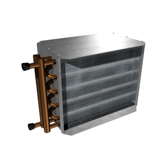 """Picture of Hot Water Reheat Coil (1 Row for 6"""" SDV)"""