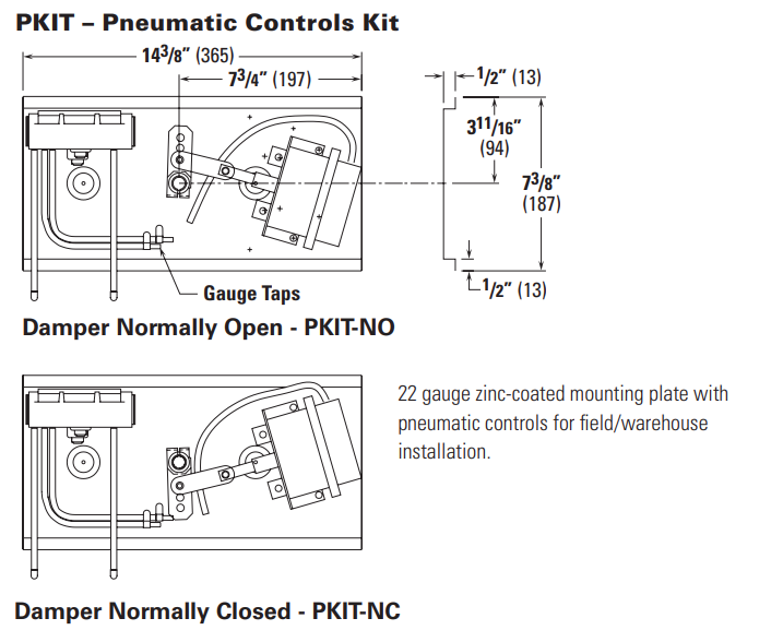 Picture of Pneumatic Controls Kit (PKIT)