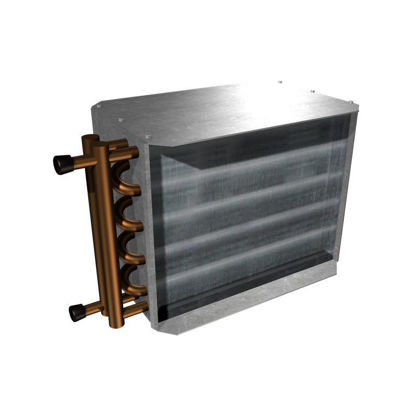 """Picture of Hot Water Reheat Coil (2 Row for 24"""" x 16"""" SDV)"""