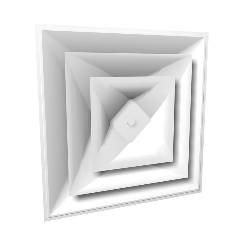 Picture of Square Cone Diffuser with Adjustable Pattern Cross Section